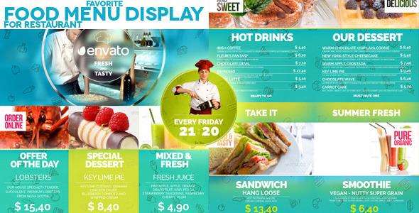 Videohive Favorite Restaurant Display 11769261