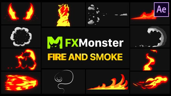 Videohive Fire And Smoke Elements 26467463
