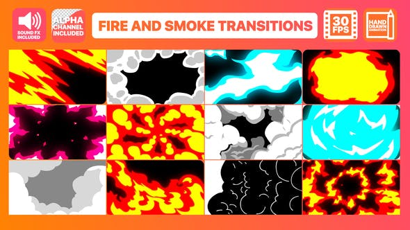 Videohive Fire And Smoke Transitions 23192529