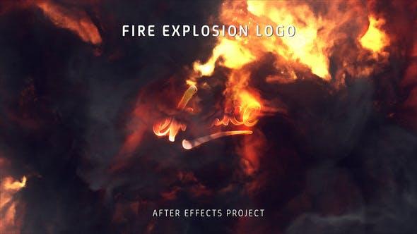 Videohive Fire Explosion Logo 25581039