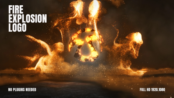 Videohive Fire Explosion Logo 25657907