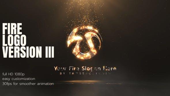 Videohive Fire Logo 3 27031255