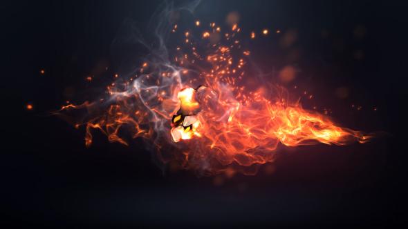 Videohive Fire Logo Intro 20215162