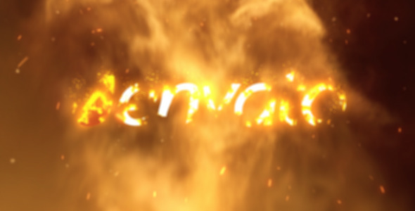 Videohive Fire Logo Reveal 02