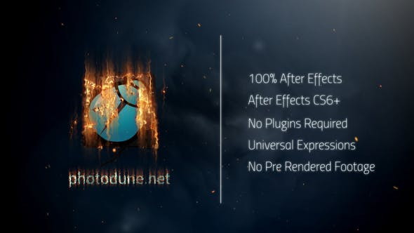 Videohive Fire Logo Reveal 22163684