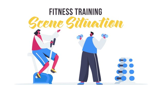 Videohive Fitness training - Scene Situation 27642518