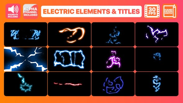 Videohive Flash FX Electric Elements Transitions And Titles 23034776