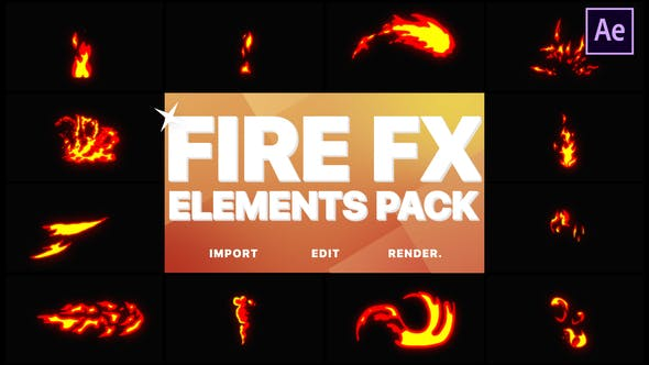 Videohive Flash FX Fire Elements 21709182