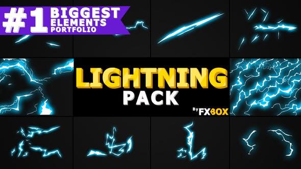 Videohive Flash FX Lightning Elements 21258455