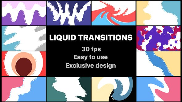 Videohive Flash FX Liquid Transitions 21758096