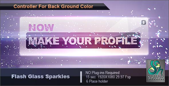 Videohive Flash Glass Sparkles 1846963