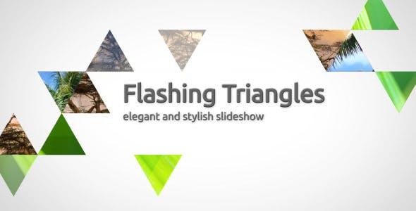 Videohive Flashing Triangles Elegant Slideshow 308601