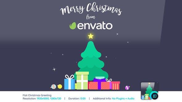 Videohive Flat Christmas Greeting 22870396