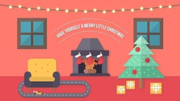 Videohive Flat Christmas New Year Wish 20908804
