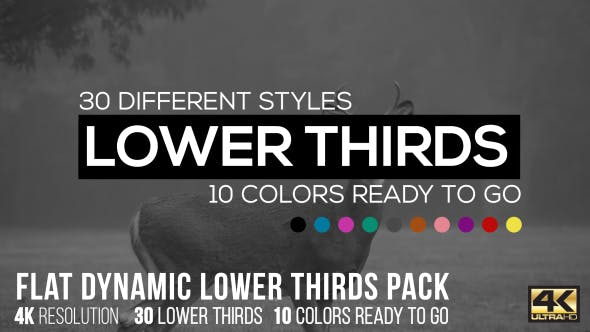 Videohive Flat Dynamic Lower Thirds Pack 15305568