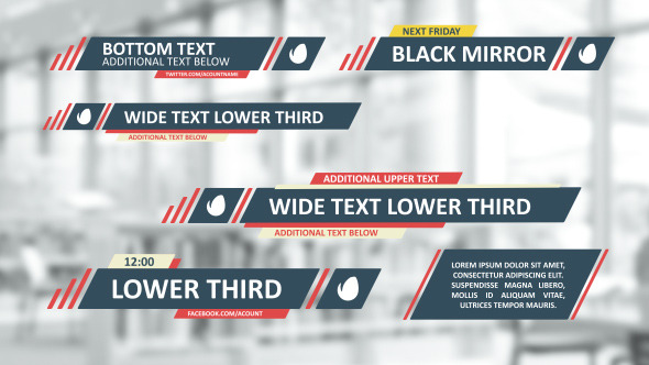 Videohive Flat Lines Lower Thirds 9084513