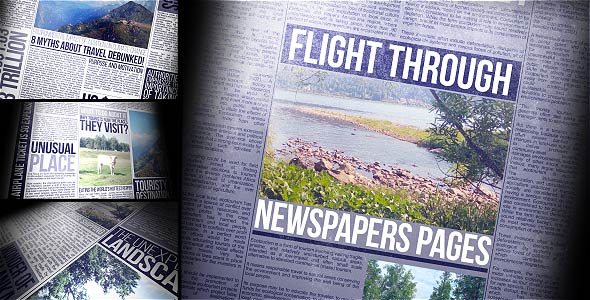 Videohive Flight Through Newspapers Pages 19878211