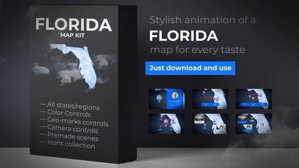 Videohive Florida Map - Florida Map Kit 27817848