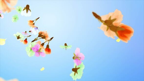 Videohive Flowers and Petals Logo 25477526