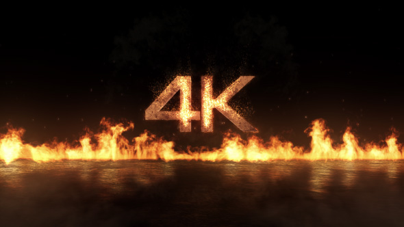Videohive Fly-In Fire Logo 15628041