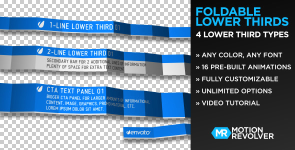 Videohive Foldable Lower Thirds 751910