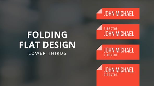Videohive Folding Flat Design Lower Thirds Template 13748252