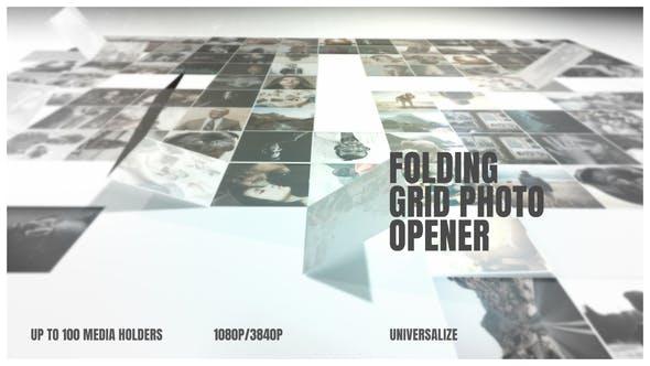 Videohive Folding Photo Grid Opener 25289061