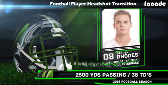 Videohive Football Player Headshot Transition 8431456