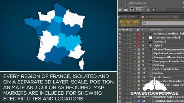 Videohive France Map Kit 15927401