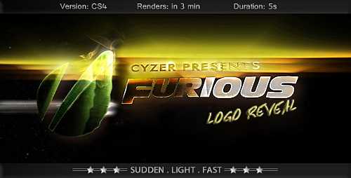 Videohive Furious Logo - Fast Powerful Simple Reveal