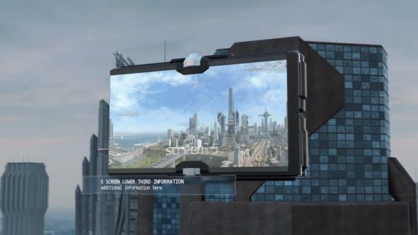 Videohive Futuristic City Slideshow 12968220