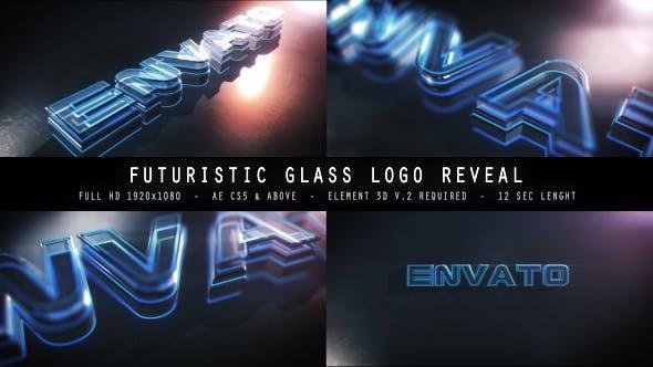 Videohive Futuristic Glass Logo Reveal 15461578