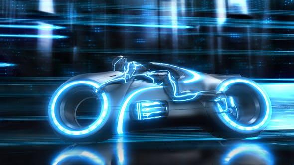 Videohive Futuristic Neon Bike Logo 25099088