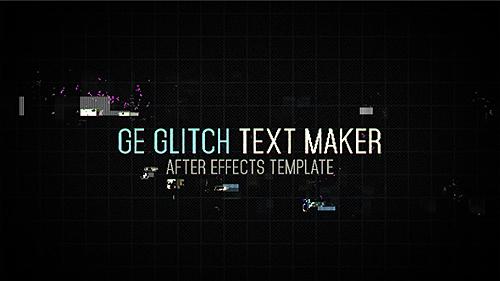 Videohive Ge Glitch Text Maker