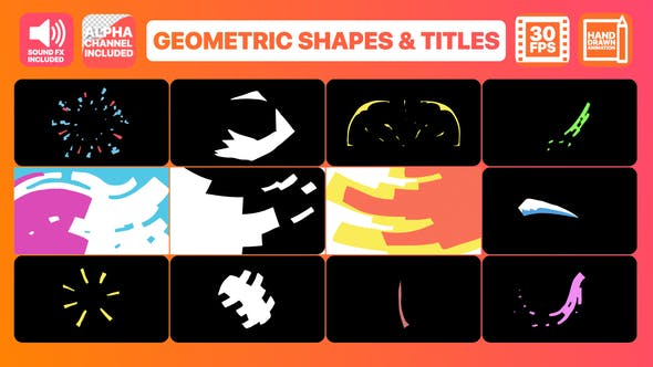 Videohive Geometric Shapes And Titles 23172451
