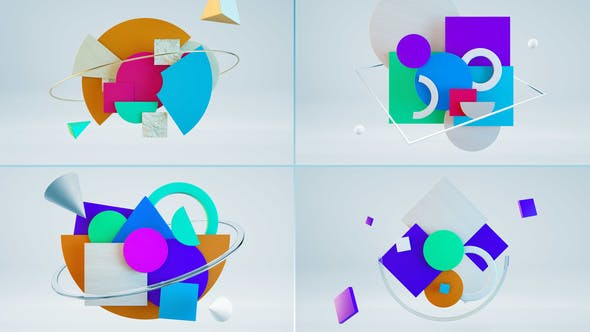 Videohive Geometry Logo 23129915