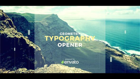Videohive Geometry Typography Opener 19701539