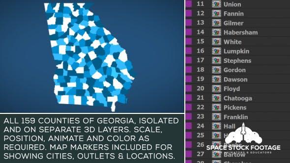 Videohive Georgia Map Kit 20756730