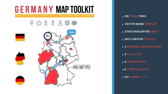 Videohive Germany Map Toolkit 26473731