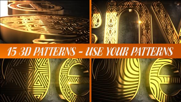 Videohive Glaring Pattern Maker Logo Reveal 20932683