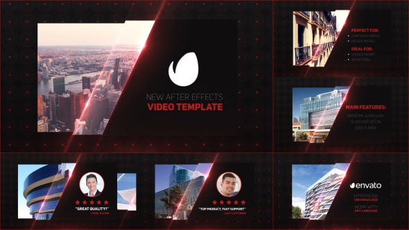 Videohive Glass Business Card Slides 14807974