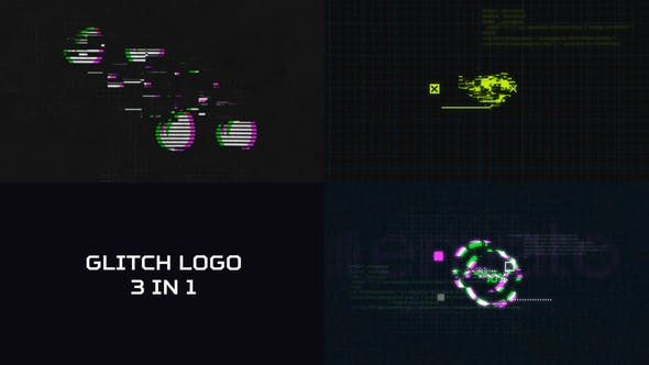 Videohive Glitch Logo 3 in 1 21170904