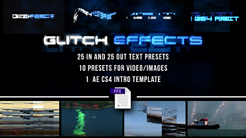 Videohive Glitch Presets for Text and Video 7605934