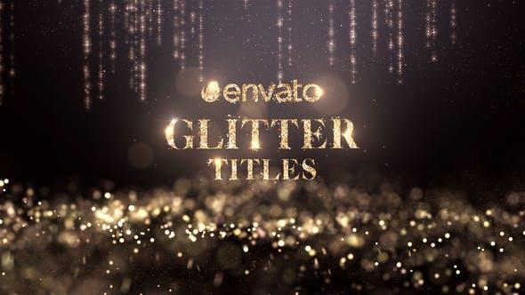 Videohive Glitter Titles 22190742