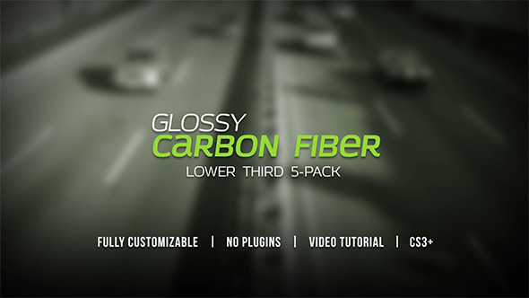 Videohive Glossy Carbon Fiber Lower Thirds 5255552