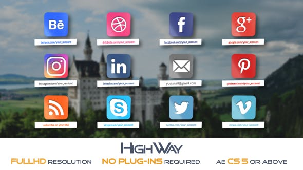 Videohive Glossy Social Icons Pack 18285364