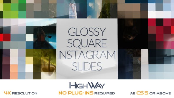 Videohive Glossy Square Instagram Slides 17120559