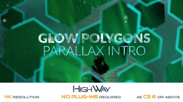 Videohive Glow Polygons Parallax Intro 19582790