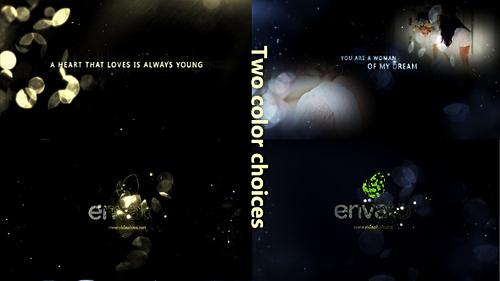 Videohive Gold Particle and Memories Typography