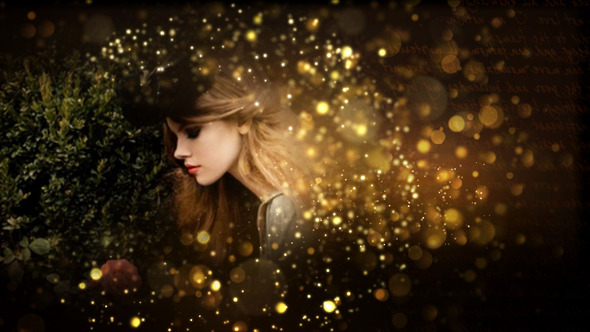 Videohive Gold Particles Postcard Opener